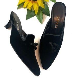 ❌SOLD❌ Ralph Lauren Velvet Leather Sole Mule
